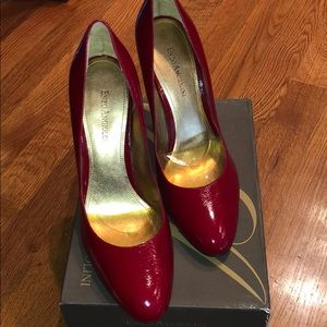 Enzo Angiolini red patent leather heels